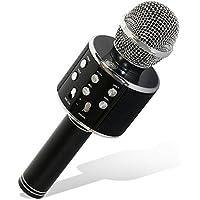 Tonor WS-858 Wireless Microfono Bluetooth Karaoke Recoding Microphone, 3 in 1 Handless Portatile Bluetooth Home KTV Player, Qualità audio superiore per PC / Telefono, Android / IOS Nero