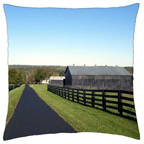 wanshangcheng Kentucky Horse Farm - Dekokissenbezug 20 x 20 Zoll / 50 von 50 cm -