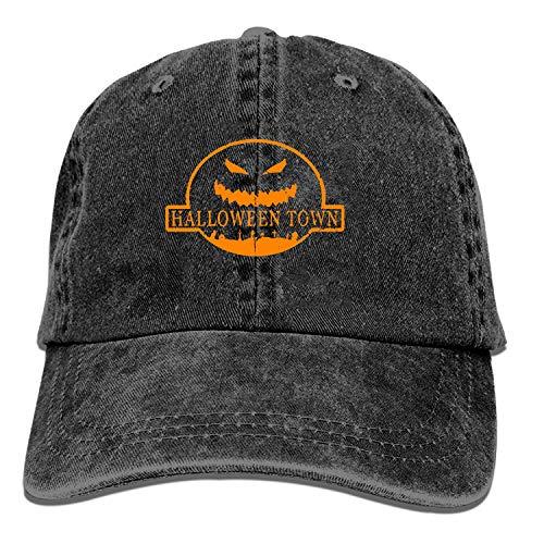 XCOZU Herren Baseballmütze - Halloween Town Trucker Caps für Männer, verstellbare Coole Cowboyhut