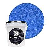 Wanders24 Pintura de brillo aspecto brillante (1 litro, Azul oro) pintura de pared de brillo, pintura de efecto, pintura de estructura