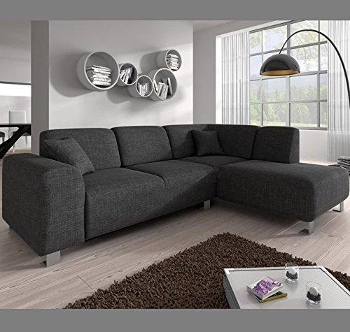 Muebles Bonitos – Sofá chaise longue modelo Galia Gris Derecha