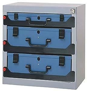 tresor 3f stapelbar 416x256x434mm f sortimentskasten dinzl mit schaumstoff baumarkt. Black Bedroom Furniture Sets. Home Design Ideas