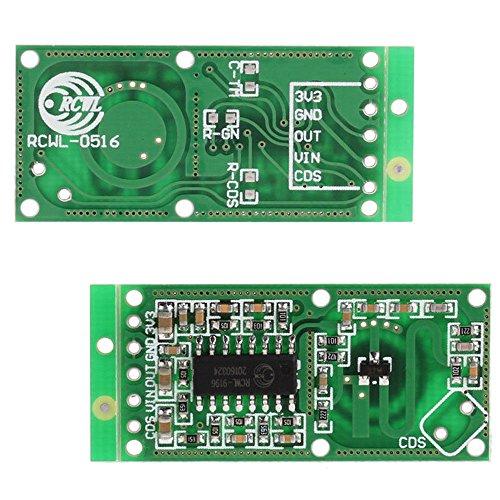 Bomoya Mikrowellen-Radarsensor, Hohe Empfindlichkeit Zuverlässigkeit RCWL-0516 Switch-Modul, Induktion Human Board Detector, 5 Stück - Mikrowelle Control Board
