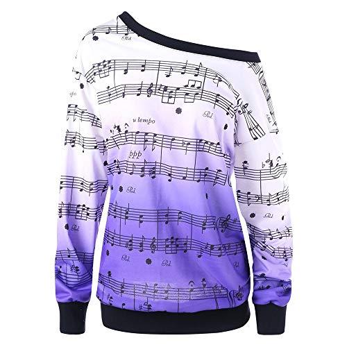 Damen Lose Rainbow Off Shoulder Pullover MYMYG Bluse Sweatshirt Langarm Shirts Frauen Slash Neck Printing Lange Ärmel Tops...