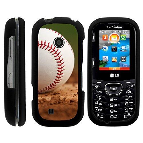 LG Cosmos 2Fall VN251| Schutzhülle für LG Cosmos 3VN251S [Slim Duo] Compact Fit Hard Snap on Schutzhülle Slim Cover auf Schwarz Sport und Spiel Design von turtlearmor -, Baseball Dirt