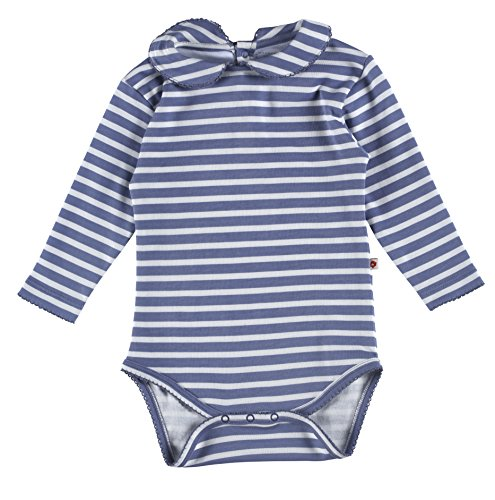 Piccalilly Organic Cotton Blue Unisex Stripe Baby Body