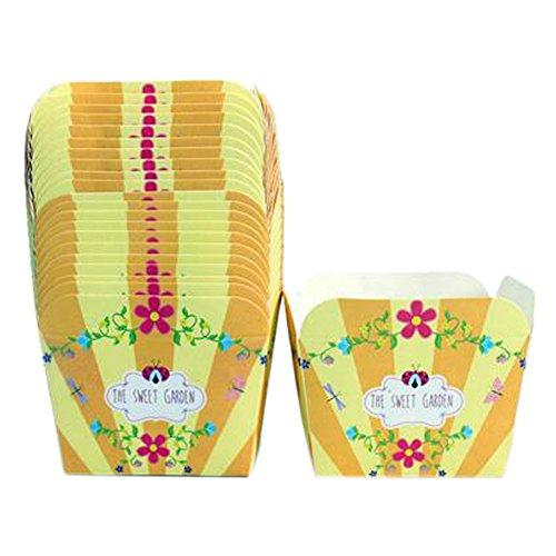 Blancho 100PCS de biscuits de papier de cuisson de tasse de papier de cuisson, Jaune