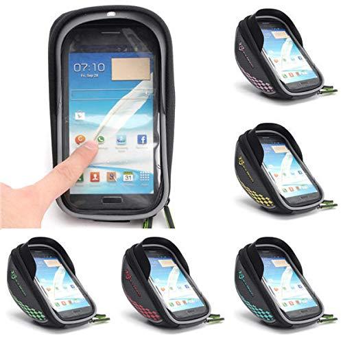 K8U147 @FATO Bike Bicycle Frame Bag Phone Case Clear Handlebar Bags Pannier Holder Touch Screen Bag -