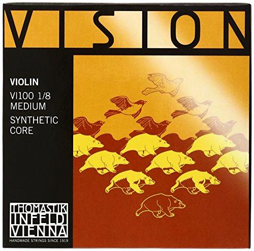 THOMASTIK CORDE PER VIOLINO VISION SYNTHETIC CORE SET PALLINO RIMOVIBILE 1/8 MEDIUM