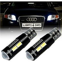 b508a 2x W5W T1010x 5630SMD luz de posición Canbus LED Xenon Look Park Luz Blanco para AUDI