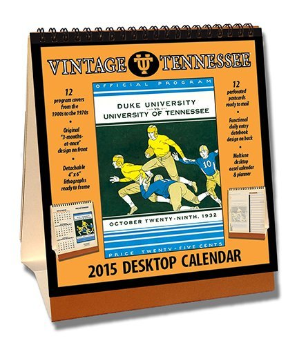 Tennessee Volunteers 2015 Easel Desktop Vintage Football Calendar by Asgard Press (2014-09-15) - Desktop-kalender-easel