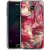 Samsung Galaxy A3 (2016) Housse Étui Protection Coque Marbre Structure Rouge
