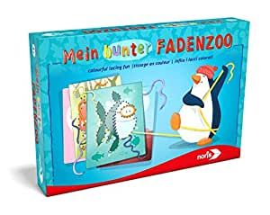 Noris Spiele 606041465 - Mein bunter Fadenzoo, Kinderspiel, bunt