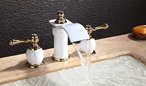 horaire-sortie-statique-uhm-peinture-blanche-en-laiton-petit-trois-pieces-robinet-robinet-melange-du