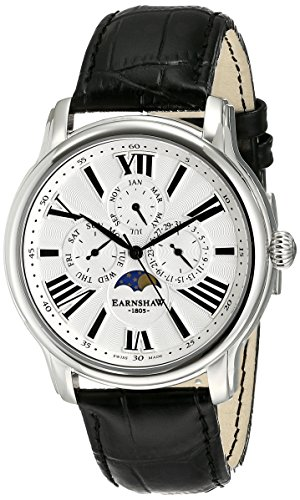 Thomas Earnshaw Men's ES-0025-01 Longitude Analog Display Swiss Quartz Black Watch