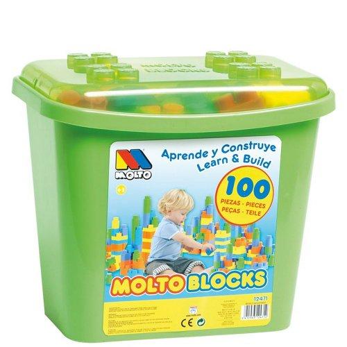 Molto Y Cia 12471 - Construccion Caja 100 Piezas, color surtido
