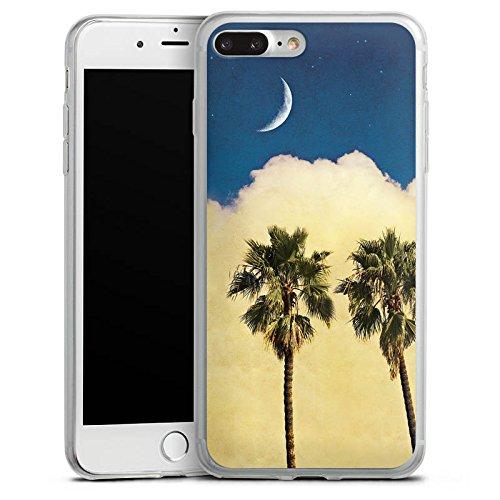 Apple iPhone 8 Plus Slim Case Silikon Hülle Schutzhülle Palmen Wolke Sichelmond Silikon Slim Case transparent