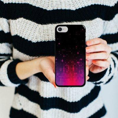 Apple iPhone X Silikon Hülle Case Schutzhülle Punkte Muster Pink Hard Case schwarz