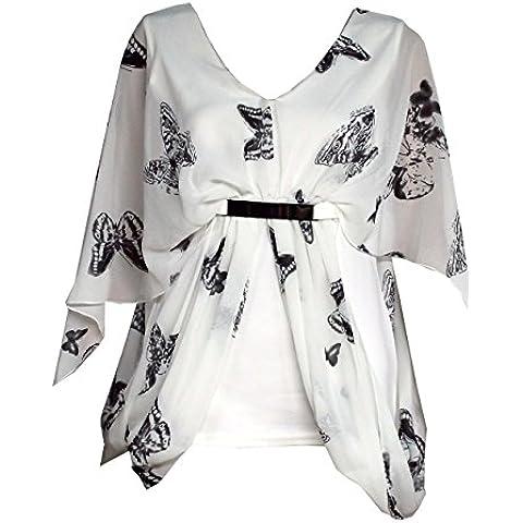 Mix Lotto da donna, Sexy da donna, bianco e nero, rivestimento in metallo, a forma di farfalla, in Chiffon a cintura, misure: