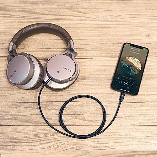 Auto AUX Kabel für iPhone, Kingone 3.5mm Aux Kabel auf iPhone 7/8 / X / 8 Plus/XS MAX/XR zum Autoradio/Lautsprecher/Kopfhörer-Adapter【Nylon geflochten, 3.3ft】 - 5