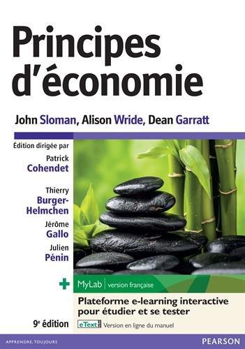 Principes d'économie 9e édition : Livre + eText + MyLab | version française Licence étudiant 24 mois par John Sloman
