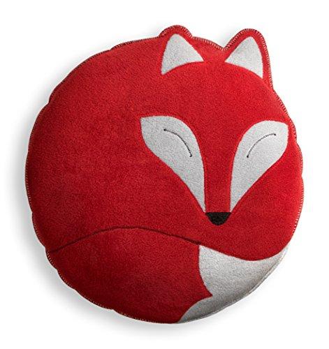 Leschi Kuschelkissen | 36948 | Der Fuchs Paco | 40 x 40 cm (für Sofa und Bett) Farbe: Feuer/Mitternacht -