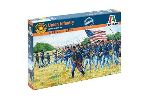 Italeri 6177 - american civil war: union infantry modellismo soldatini scala 1:72