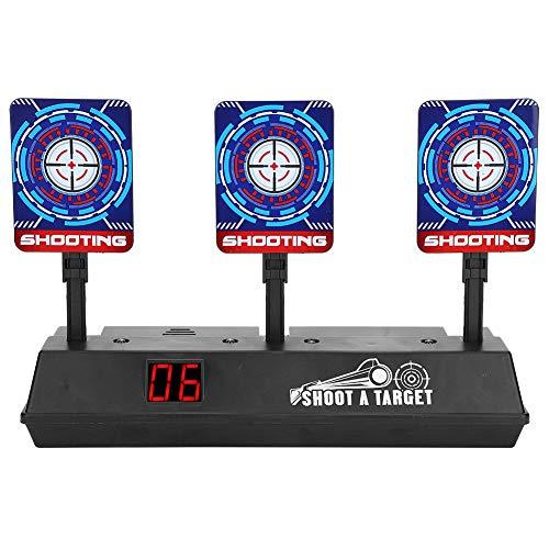 Cible Électrique Jouet Gun Électronique Numérique Score, Tir Numérique Cible Automatique Restauration Accessoire pour Pistolets à Balles Souples pour Nerf Guns Blaster N-Strike Elite pour Enfants