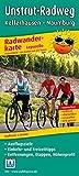 Radwanderkarte Leporello Unstrut-Radweg: Mit Ausflugszielen, Einkehr- & Freizeittipps, Entfernungen, Etappen, Höhenprofil, wetterfest, reißfest, abwischbar, GPS-genau. 1:50000