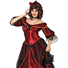 Atosa 26385 - Southern Belle, señoras traje, tamaño 42/44, de color rojo oscuro