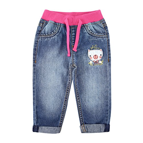 Chirpie Pie By Pantaloons Baby Girls' Relaxed Regular Fit Jeans (110029928_Blue_9-12 M)