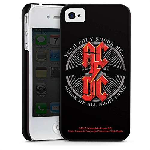 Apple iPhone 5c Silikon Hülle Case Schutzhülle ACDC All night long Merchandise Fanartikel Premium Case glänzend