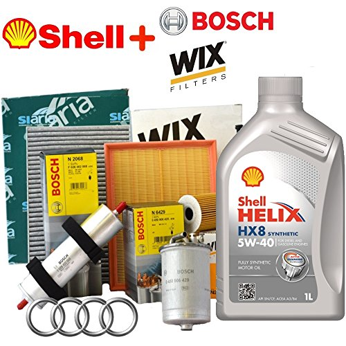 Kit Tagliando 4 Various filters + 5 lt Shell Helix Oil HX8 5 W40 (wl7296, wl7476, f026402068, wa9580, v3766)