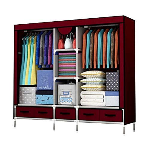 Modernen Bettrahmen (BYBYGXQ Kleiderschrank mit Stahlrohr und verstärktem Rahmen, Kleiderschrank, Kleiderschrank Modern Large 1,B)