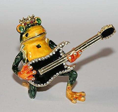 Grenouille avec guitare Boîte à bijoux/Décoration cadeau–Neuf