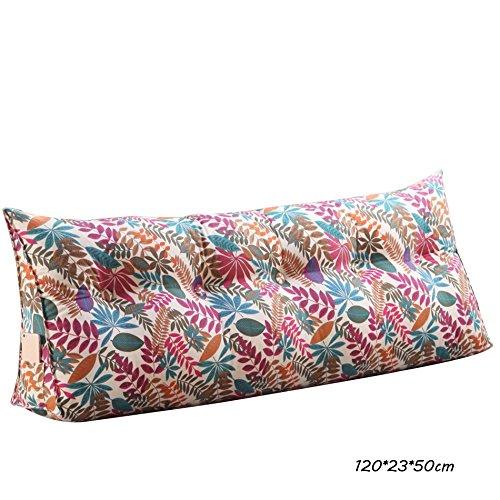 C&L Coussin de lit, grand coussin oreiller de lit Grand canapé dossier Protéger le cou Protéger la taille oreiller 120 * 22 * 50cm (Couleur : # 5)