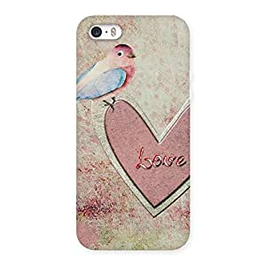 Gorgeous Bird On Heart Print Back Case Cover for iPhone SE