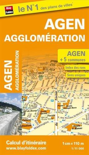 Plan d'Agen et de son agglomération par Blay-Foldex