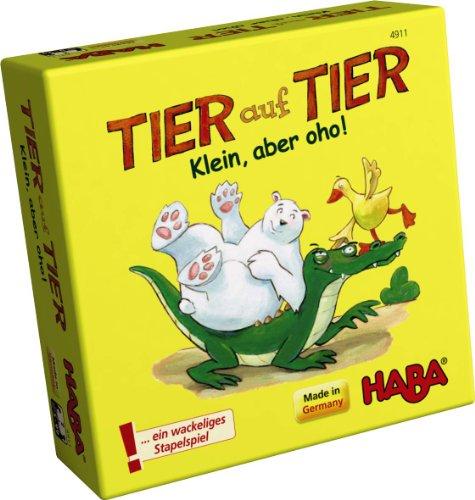 Haba-4911-Tier-auf-Tier-Juego-de-apilar-con-animales