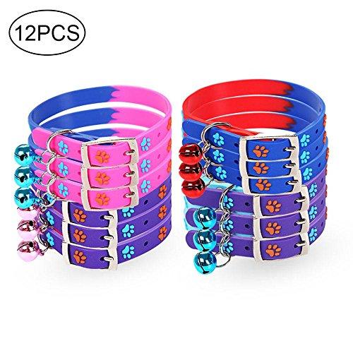 Aolvo 12pcs/lot de colliers d'identification pour...