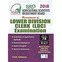 ASRB ( Agricultural Scientists Recruitment Board ) Lower Division Clerk (LDC) Exam Books 2018