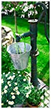 Wallario Selbstklebende Türtapete mit Schutzlaminat, Motiv: Wasserquelle im Garten - Größe: 93 x 205 cm in Premium-Qualität: Abwischbar, Brillante Farben, rückstandsfrei zu entfernen
