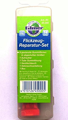 FILMER Flickzeug-Reparatur-Set - Fahrrad Flickzeug 14-teilig