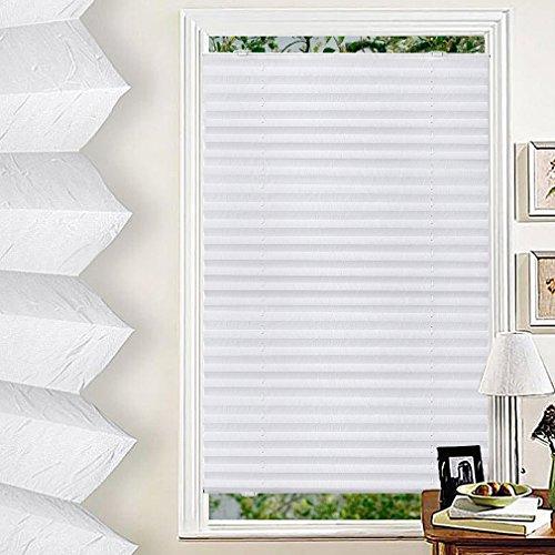 GOGO GO Rollo verdunklung 90x130cm KEIN INSTALL Sonnenschutzrollo Thermo Rollo Hitzeschutz für Fenster Weiß