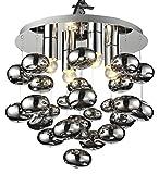 Lampex Tivoli 4 301/4 Pendelleuchte, Metall, E27, Schwarz