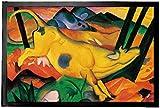 1art1 94716 Franz Marc - Die Gelbe Kuh, 1911 Fußmatte Türmatte 60 x 40 cm