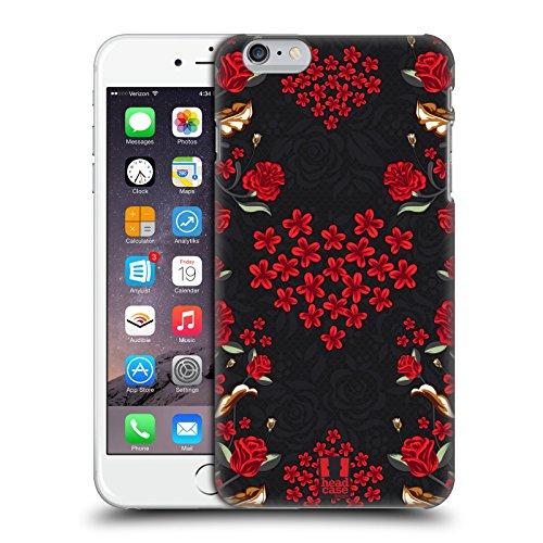 Head Case Designs Floreale Rosso Art Deco Floreale Cover Retro Rigida per Apple iPhone 7 Plus / 8 Plus Floreale Cuore Rosso