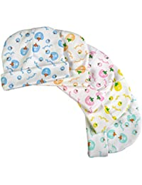 BRIM HUGS & CUDDLES Printed Cotton Caps Unisex Babies (Multicolour, HC-308C_PACK_OF_5)