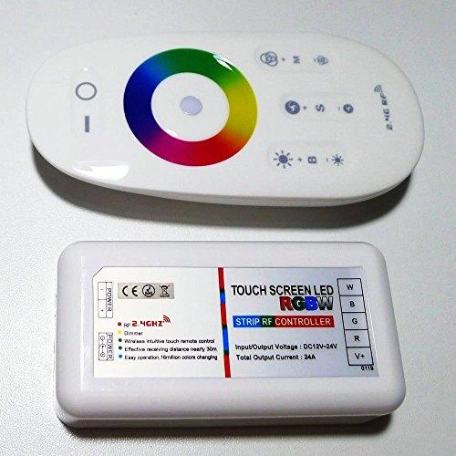 Eastchina® DC 12V-24V 2.4G Pantalla táctil inalámbrica LED SMD 5050 RGBW Strip Controles de RF Remoto | 2.4G Pantalla táctil sin hilos LED SMD 5050 RGBWW tira los controladores del RF remotos