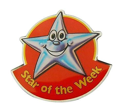 SWB10 Paquet de 25.4cmStar De le Semaine' Émail Pin Badge